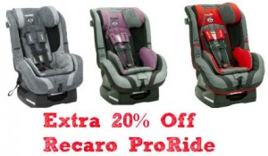 Get An Extra 20 Off The Recaro ProRide Car Seats With Amazon There Are 5 Colors To Choose From Including Red Color Which Comes 176