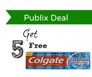 publix toothpaste deal