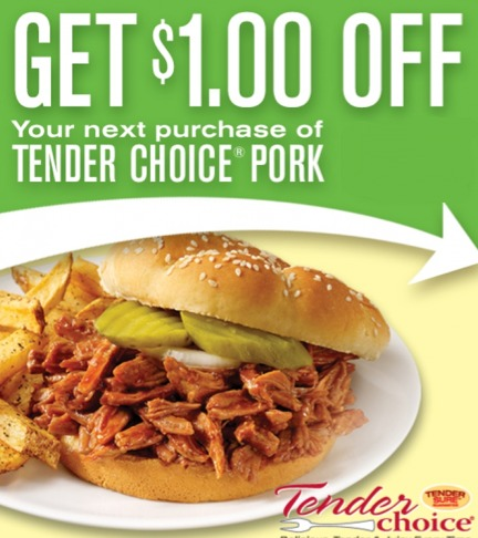 tender choice pork coupon