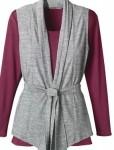 tie-front vest