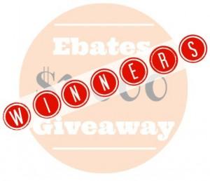 Ebates Winners