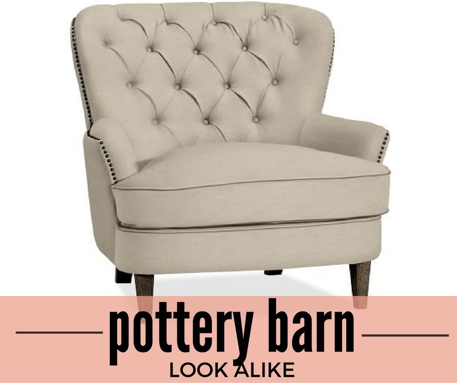Pottery Barn Cardiff Tufted Chair Look Alike