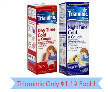 Triaminic Coupons Cold Cough Only 119 At Target Southern