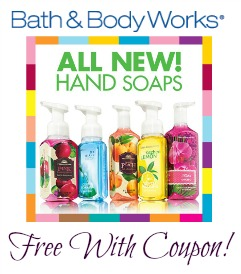 bath and body works free hand soap
