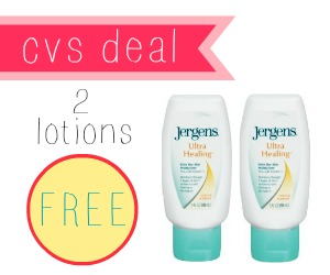cvs deal on jergens lotion