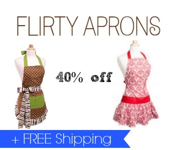 40% Off Flirty Aprons + Free Shipping