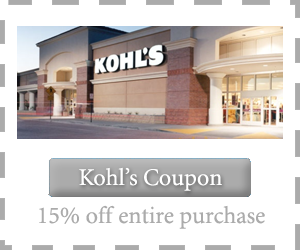 kohl's coupon 15 off