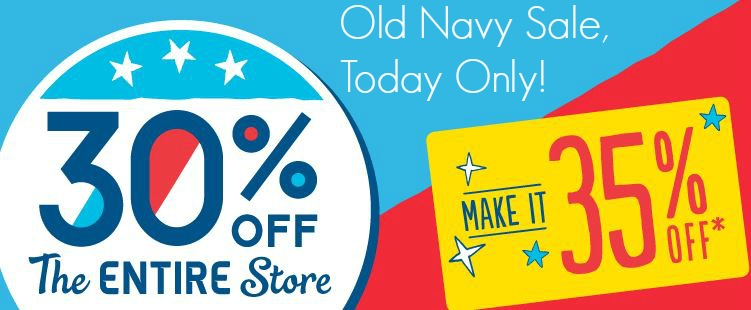 old navy clothing sale