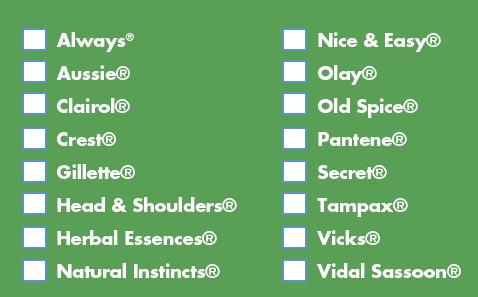 p&G items