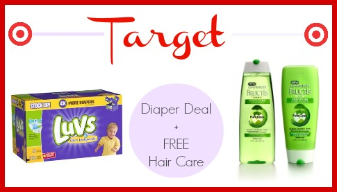 Awesome deal on diapers at Target, plus FREE hair care.