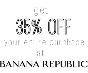 banana republic coupon code