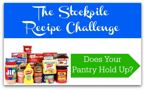 "Can you make ""new to you"" recipes using only the items you have in your pantry stockpile that you bought couponing?"