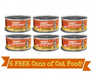 iams print now for six free cans of cat food