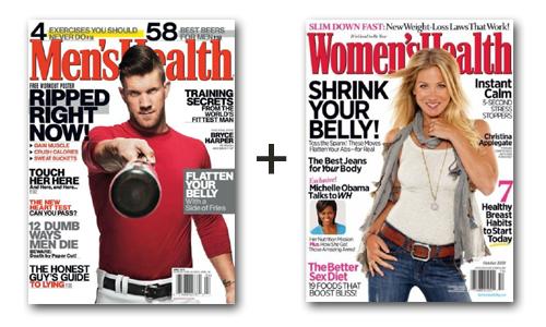 Men's And Women's Health Magazine Subscription Bundle 1
