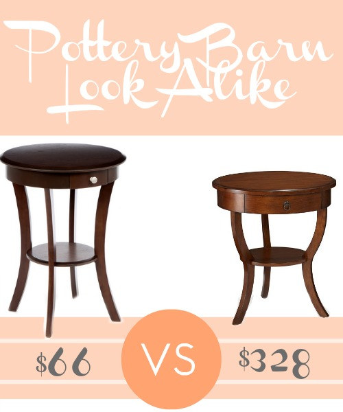 Pottery Barn Carrie Pedestal Bedside Table Look Alike for 80 off!