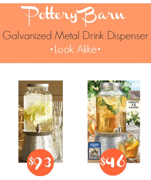 Pottery Barn galvanized metal drink dispenser look alike for 51 off!