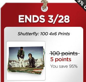 mycokereward shutterfly deal