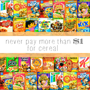 You should never pay more than $1 for cereal!