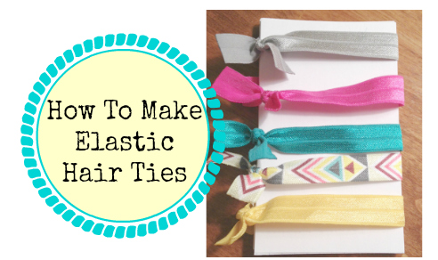 how to make elastic hair ties