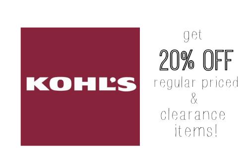 kohls.com coupon code