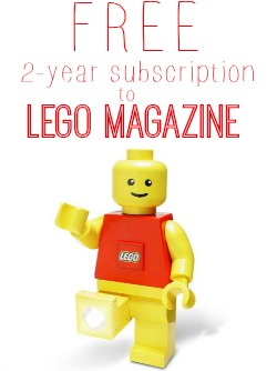 Get a FREE 2-year subscription to LEGO Magazine!