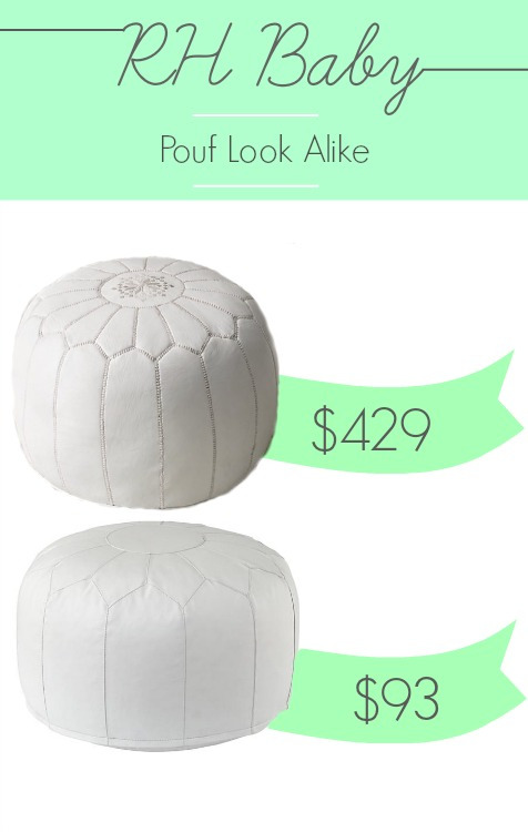RH Baby Moroccan Pouf look alike for 78% off at Land of Nod.