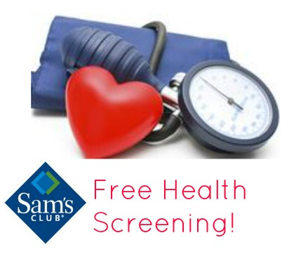 FREE Sam`s Club Health Screeni...