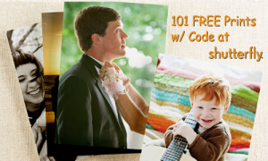 shutterfly coupon code 101 free prints