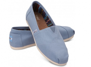 toms shoes Blue Women's Canvas Classics
