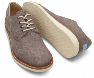 toms shoes Brown Chambray Men's Brogues 11