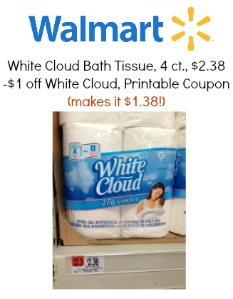 white cloud bathroom tissue new white cloud bath tissue makes it 1 38 21511 | white cloud deal