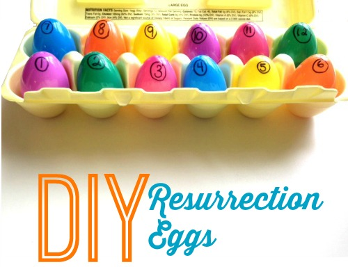 DIY Resurrection Eggs for only $1 to tell the story of Easter with your kids.