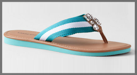 Lands' End Women's Embellished Flipflops 1