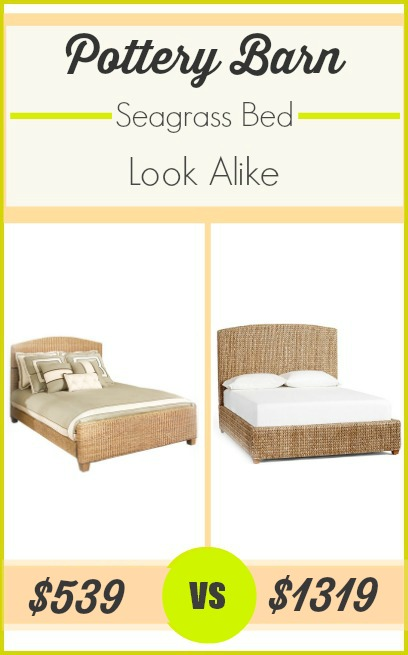 Pottery Barn seagrass bed look alike at 59% off.