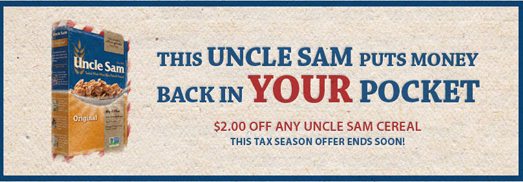 Uncle Sam's Cereal coupon