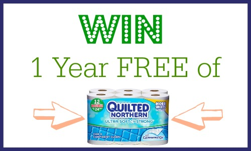 Win a 1 year supply of Quilted Northern bath tissue.