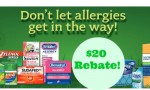 $20 Allergy Product Rebate = $14 Money Maker