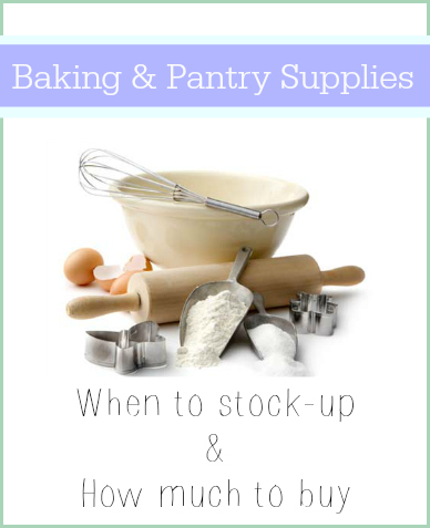 baking and pantry supplies
