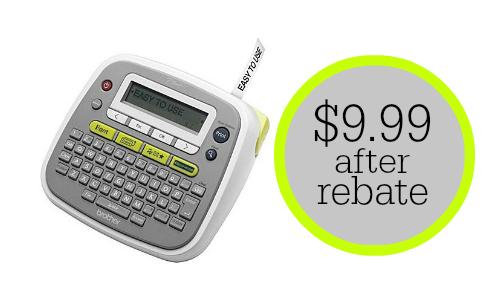 staples com deal brother label maker 9 99 after rebate
