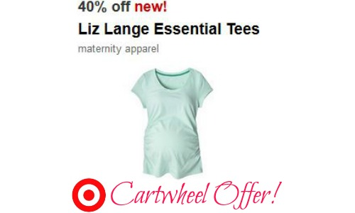 2789b393df6 Are you or someone you know expecting  Don t miss a new 40% Off Cartwheel  offer for Liz Lange Maternity Essentials Tees!