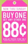 Crazy 8 Deal: Buy One Get One For 88¢ Sale
