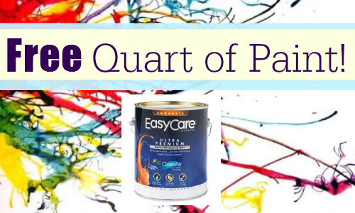 free quart of paint