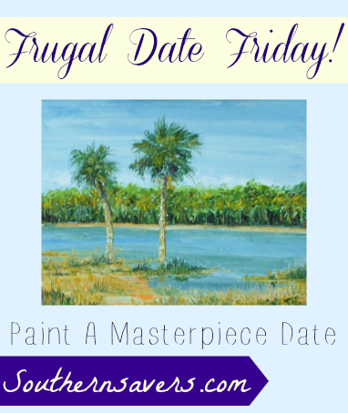 frugal date friday  Painting date