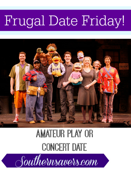 frugal date friday amateur play or concert