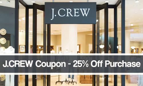 j.crew coupon 25 percent off