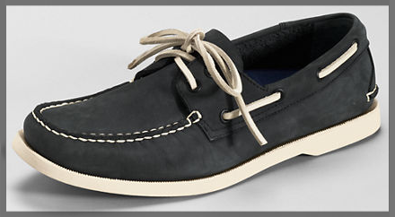 lands end Men's Heritage Leather Boat Shoes