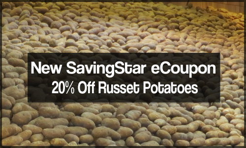 savingstar ecoupon 20 off russet potatoes