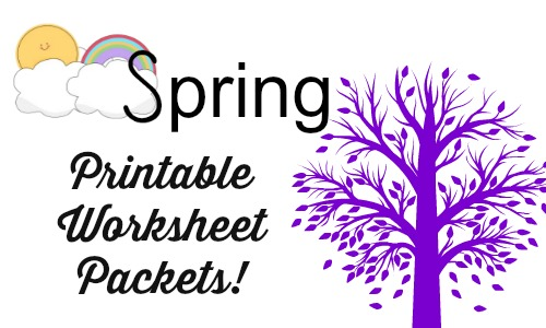 spring printable worksheets