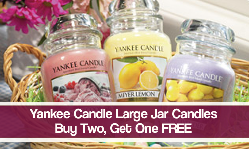 yankee candle b2g1 large jar candles
