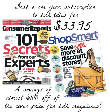 Consumer Reports Deal